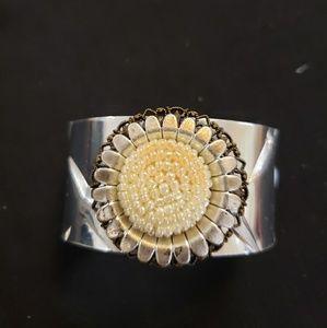 Galvanized daisy  cuff